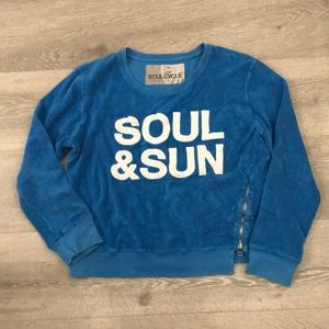 Soul & Sun Soul Cycle terry cloth sweat shirt
